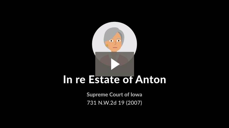 In re Estate of Anton