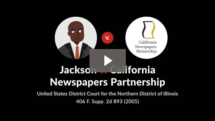 Jackson v. California Newspapers Partnership