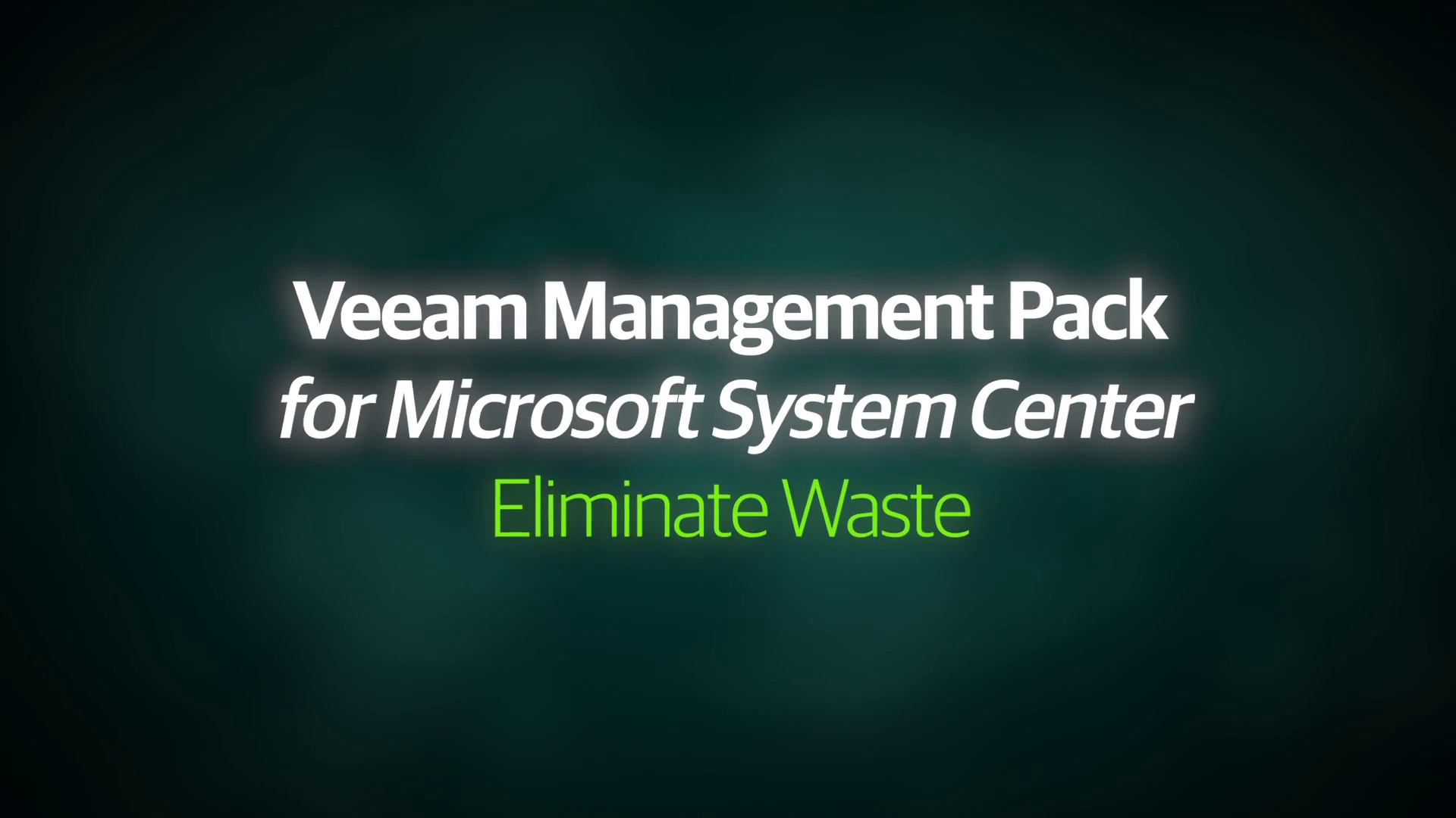 VMP v8 - Demo Video - Eliminating Waste - EN