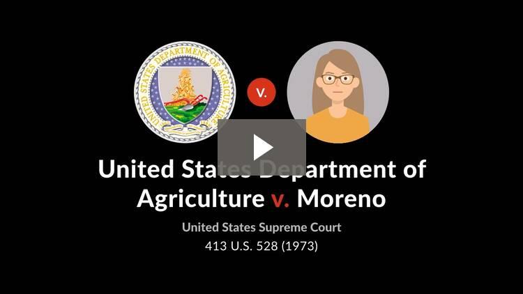 U.S. Dept. of Agriculture v. Moreno