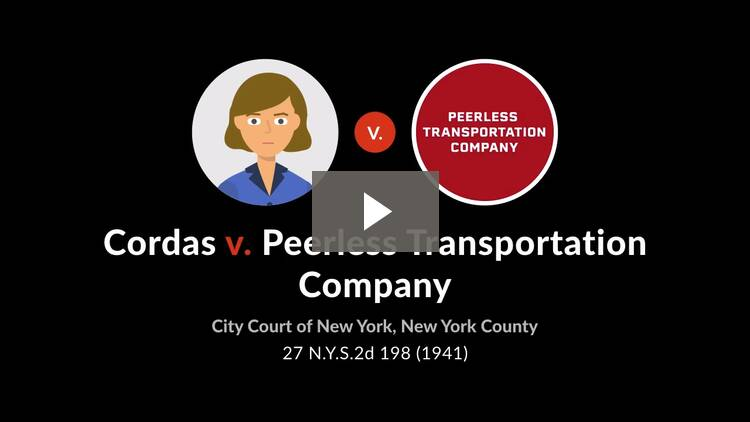 Cordas v. Peerless Transportation Co.