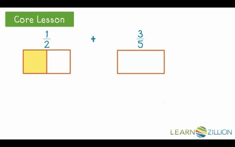 Add fractions with unlike denominators by creating area models add fractions with unlike denominators by creating area models learnzillion ccuart Gallery