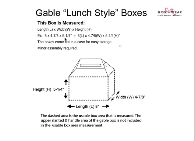Measuring Guide - Gable Boxes | Box and Wrap