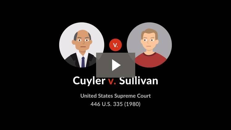 Cuyler v. Sullivan