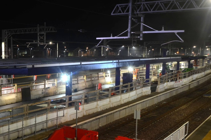 Timelapse of Removal & Fitting of Replacement Canopies at Blackpool North Railway Station