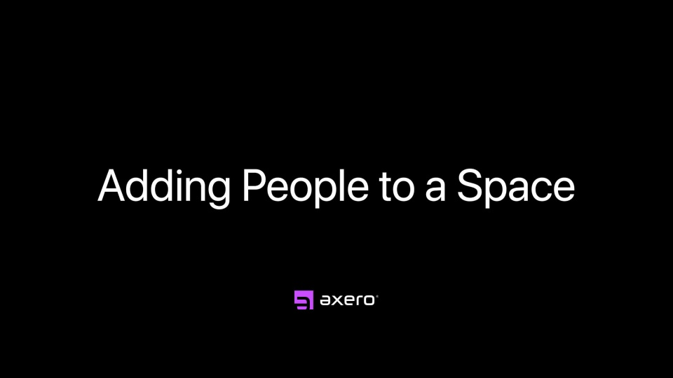 Adding People to a Space