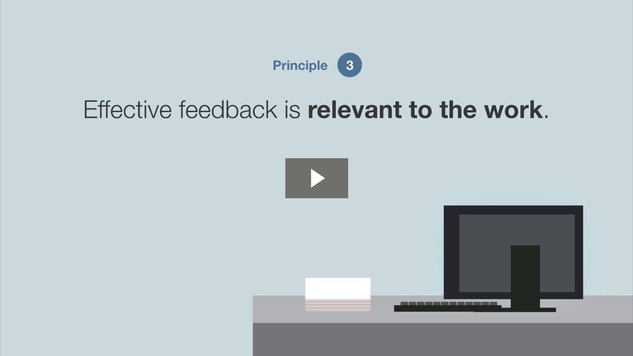 Principles of Effective Feedback