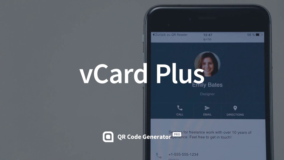 vCard Codes, create QR Codes for business cards