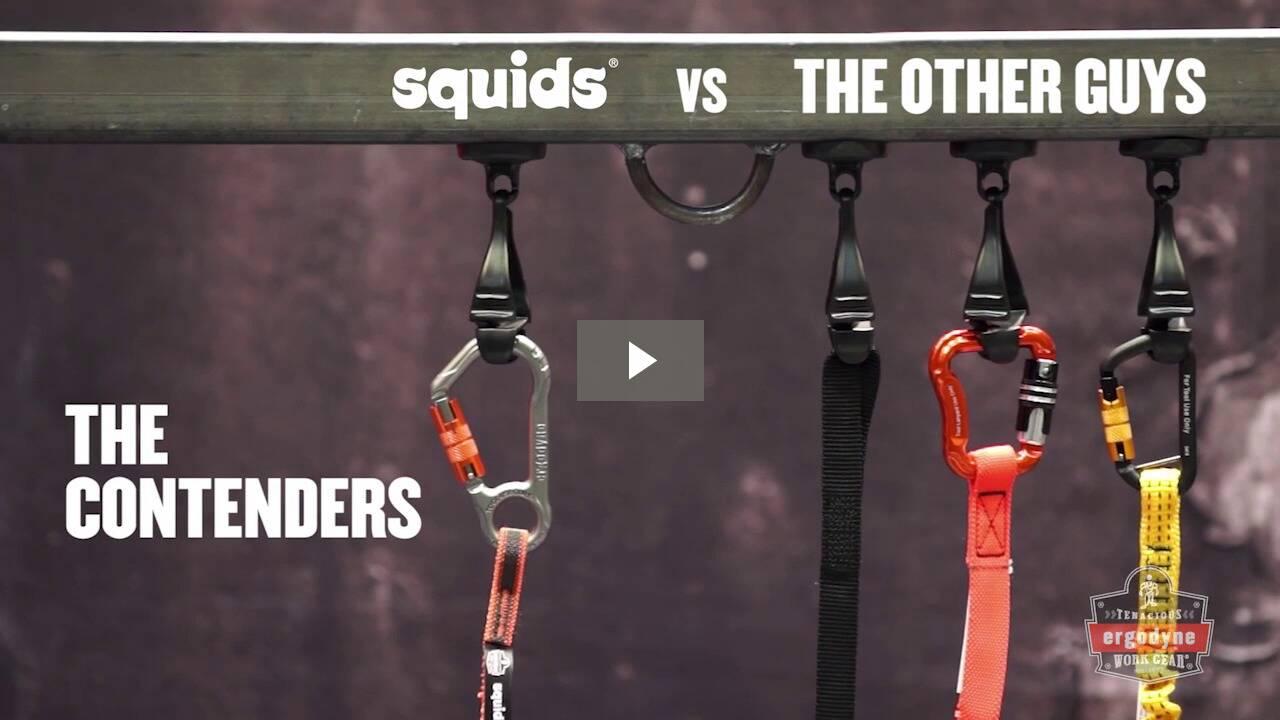 Ergodyne Product Video - Squids<sup>®</sup> 3118F(x) Tool Lanyard Dual Locking Carabiner - 15lbs