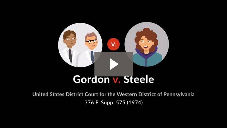 Gordon v. Steele