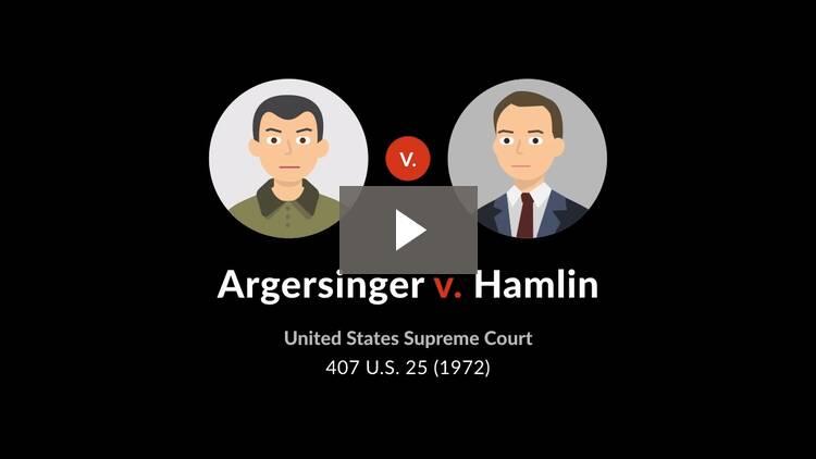 Argersinger v. Hamlin