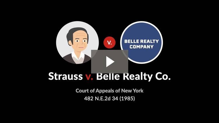 Strauss v. Belle Realty Co.