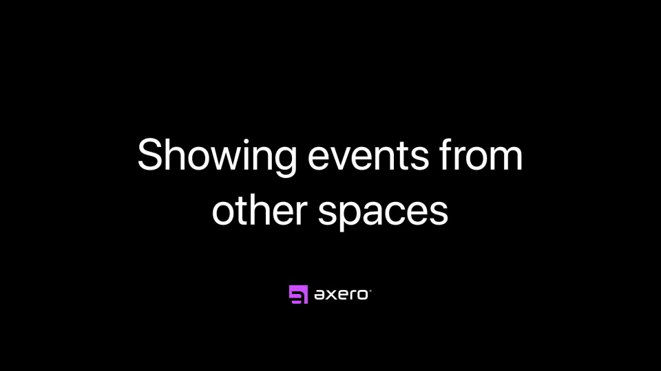Showing events from other spaces