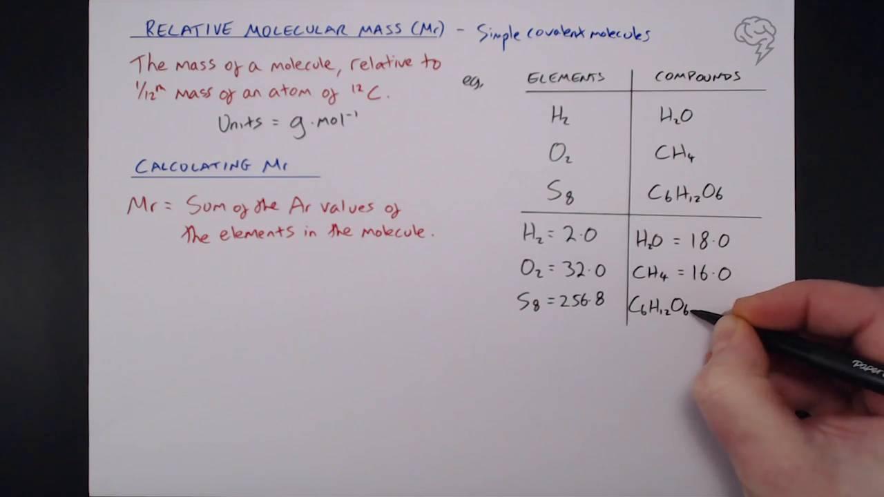 Relative Molecular Mass Relative Formula Mass Tailored Tutors