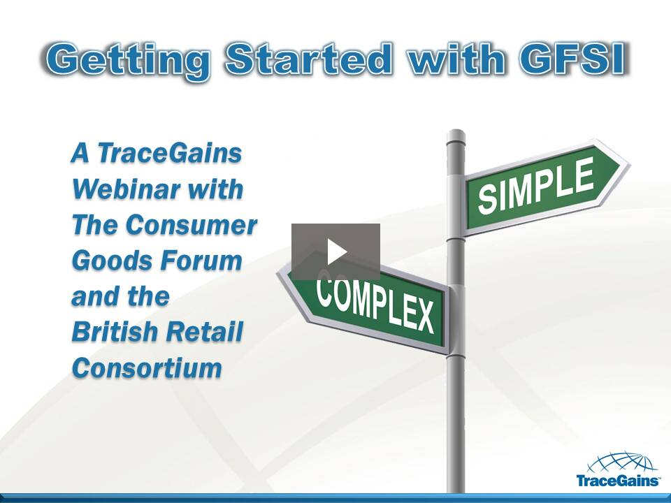 Getting Started with GFSI Webinar