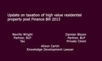 Still image from 'Update on taxation of high value residential property post Finance Bill 2013' video