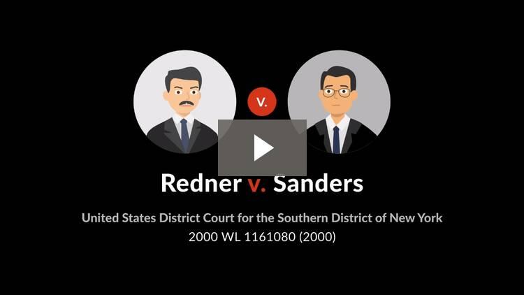 Redner v. Sanders