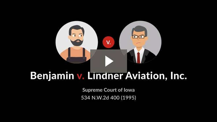 Benjamin v. Lindner Aviation, Inc.
