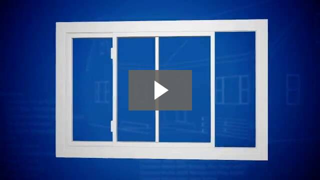 Video play button - window with multiple panels