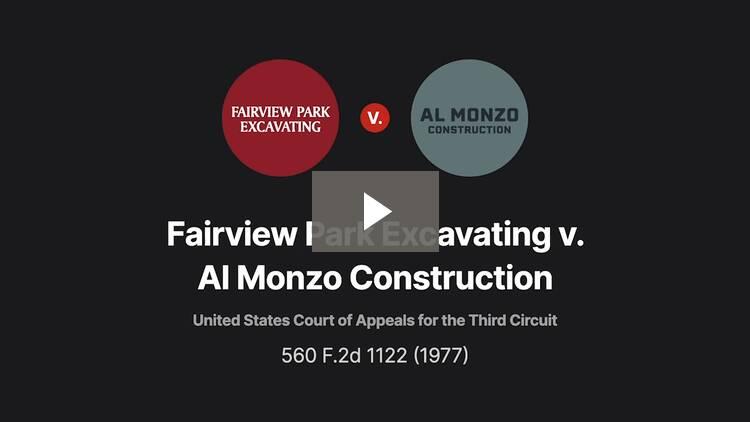 Fairview Park Excavating Co. v. Al Monzo Construction Co.