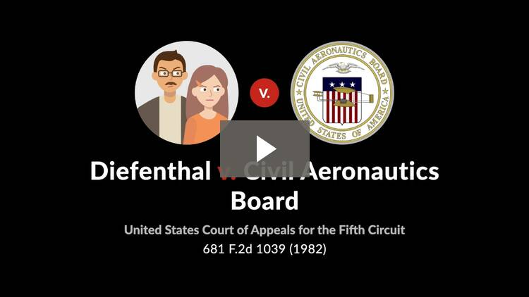 Diefenthal v. Civil Aeronautics Board