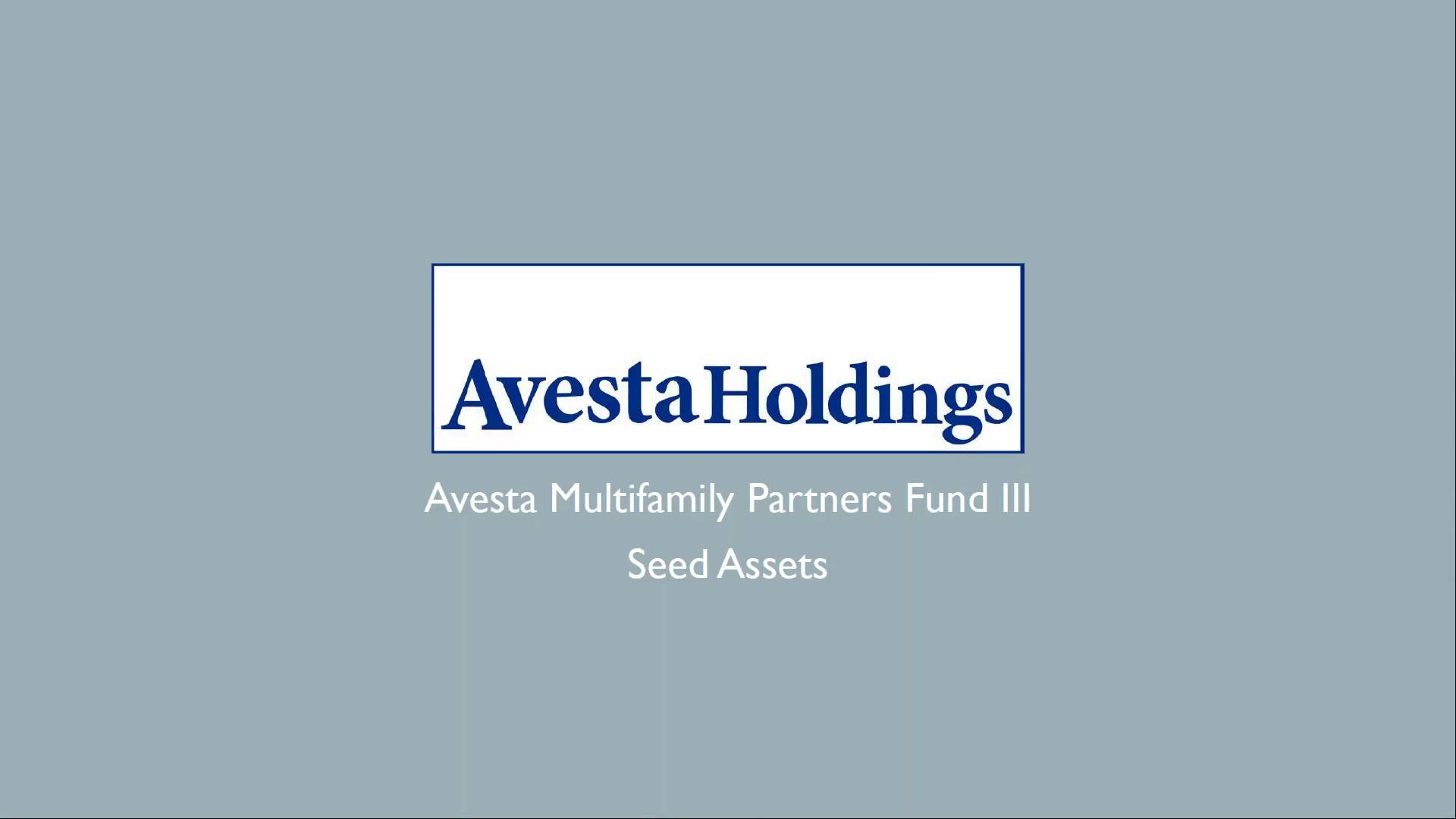 Investment Video - Avesta Multifamily Partners Fund III