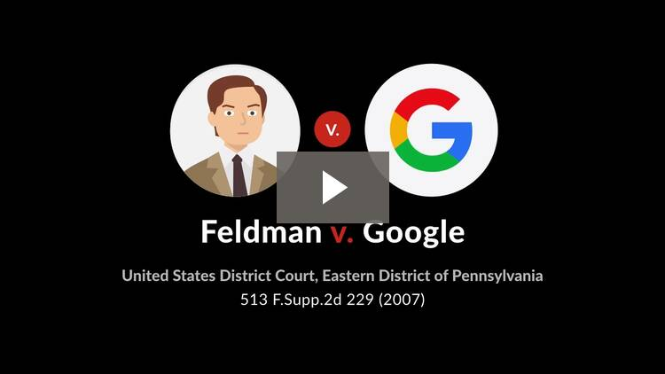 Feldman v. Google, Inc.