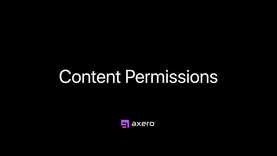Content Permissions