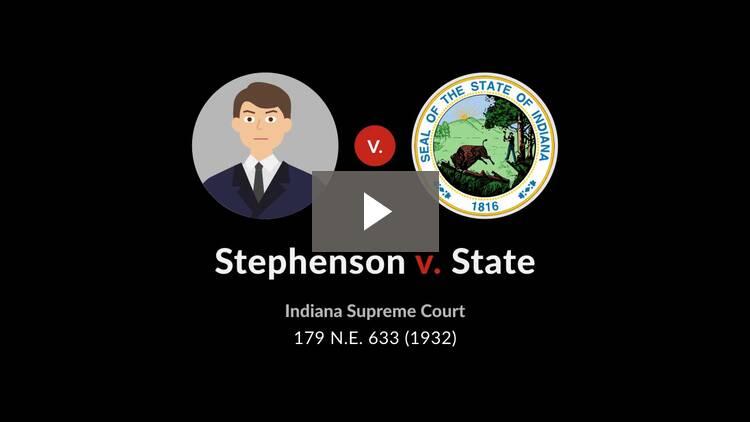 Stephenson v. State