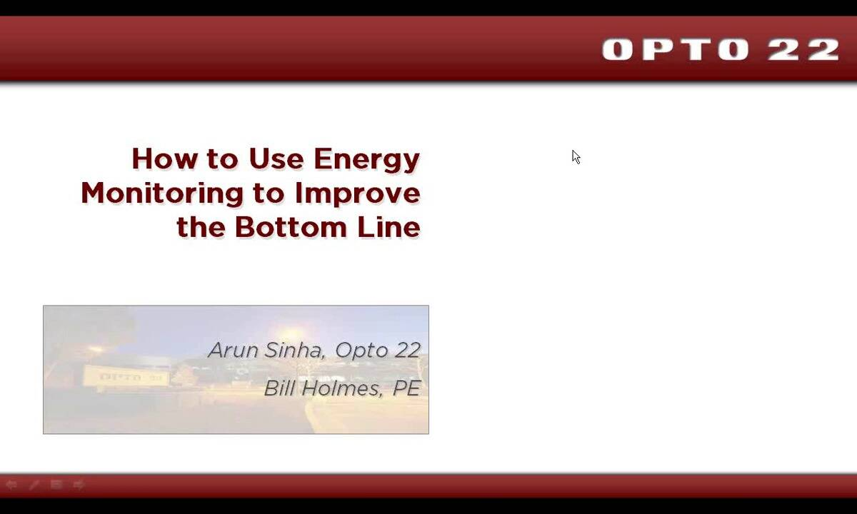 Webinar- How to Use Energy Monitoring to Improve the Bottom Line