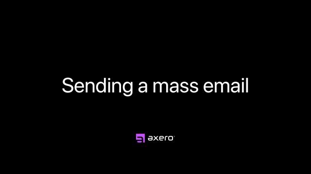 Sending a mass email