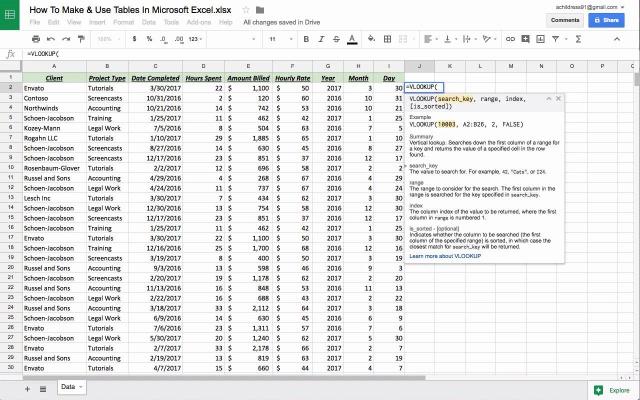 Google Tabellen in Excel: Gewusst wie: Verschieben zurück & Forth ...
