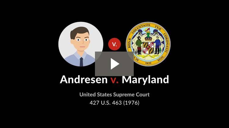Andresen v. Maryland