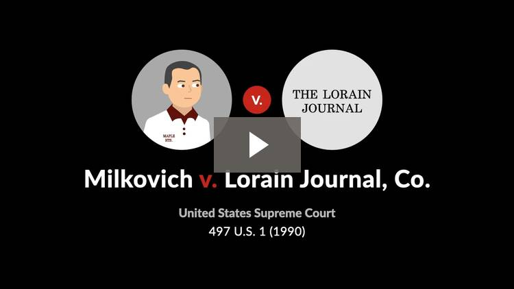 Milkovich v. Lorain Journal Co.