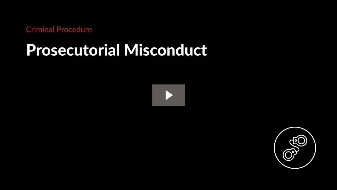 Prosecutorial Misconduct