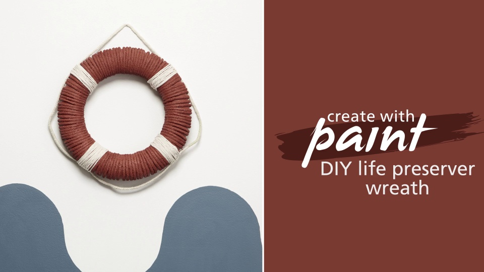 DIY life preserver wreath