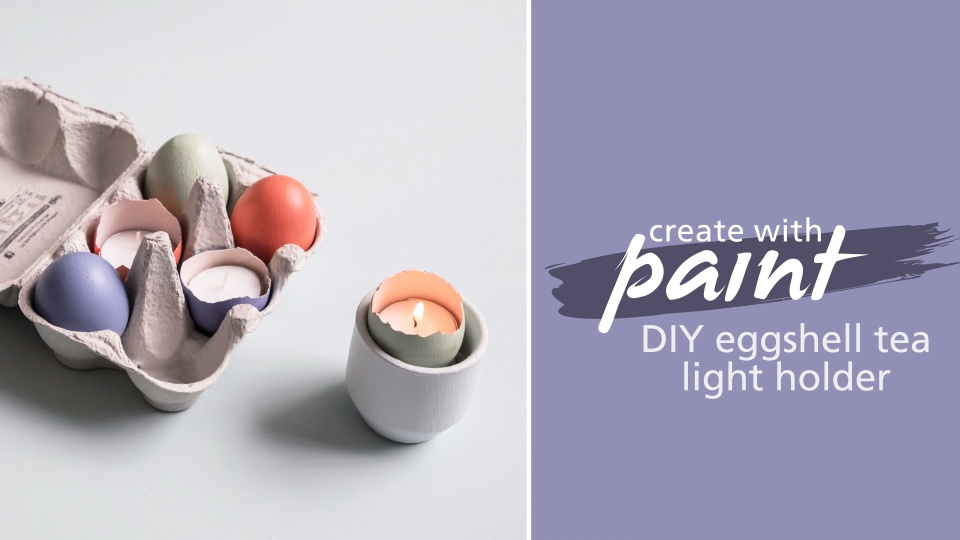 Habitat TV Video: Turn painted eggshells into candle holders