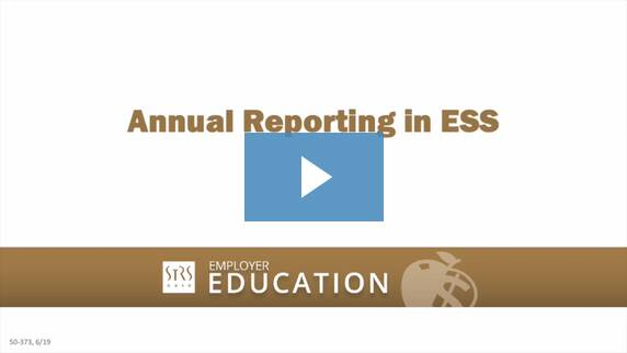 Thumbnail for the 'Annual Reporting in ESS' video.