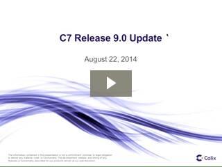 Calix C7 R9 Intro Webinar