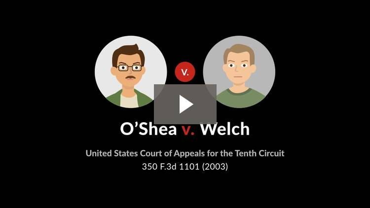 O'Shea v. Welch