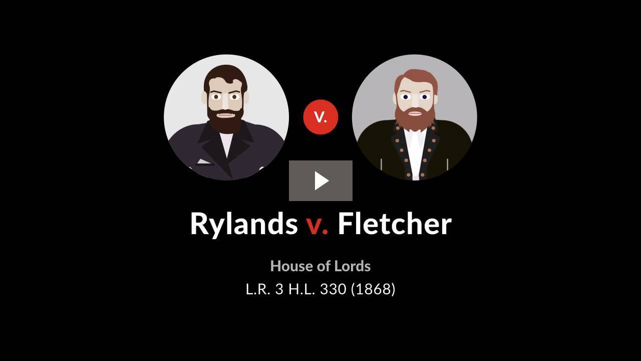 Rylands v. Fletcher