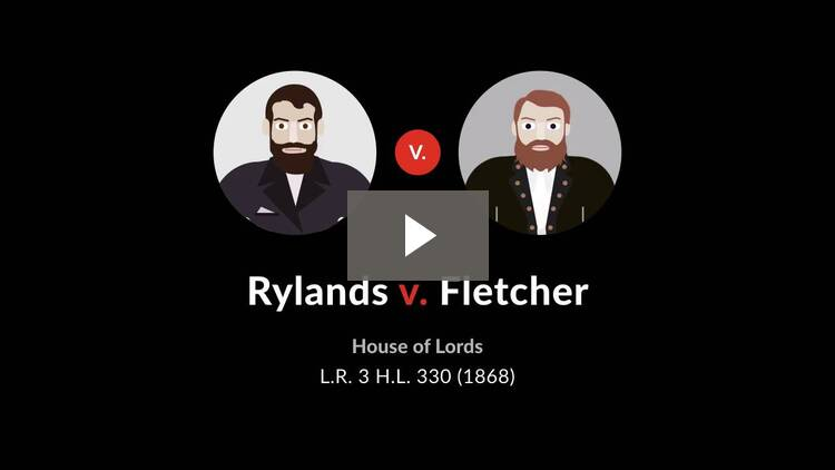 Rylands v. Fletcher