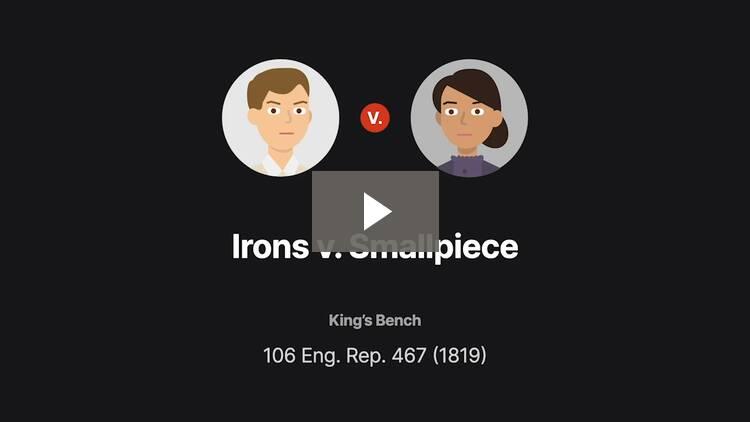 Irons v. Smallpiece