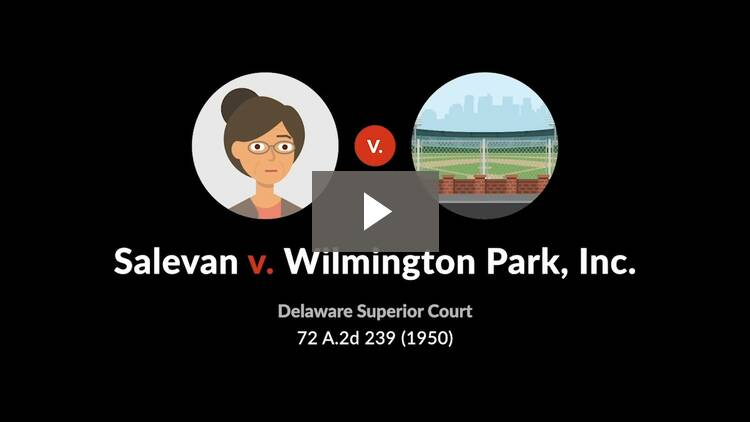 Salevan v. Wilmington Park, Inc.