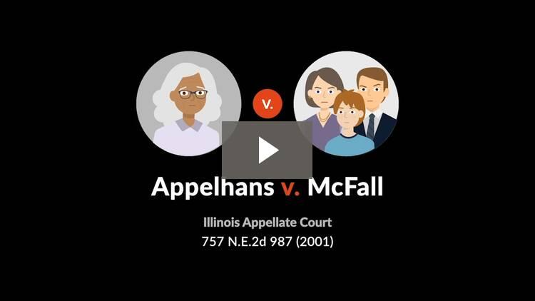 Appelhans v. McFall