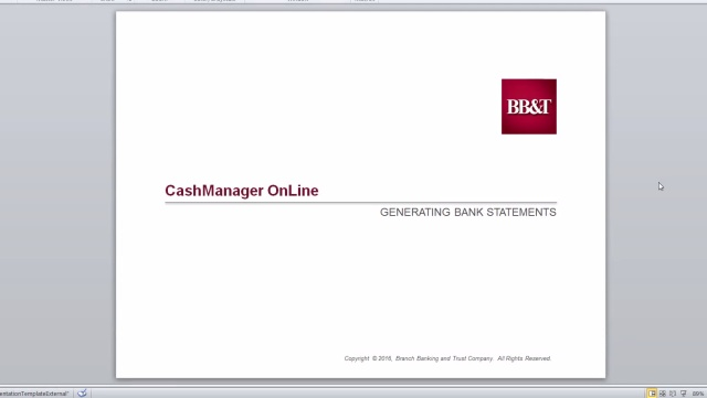 Cashmanager Online Statement Access Online Banking Bb T Bank
