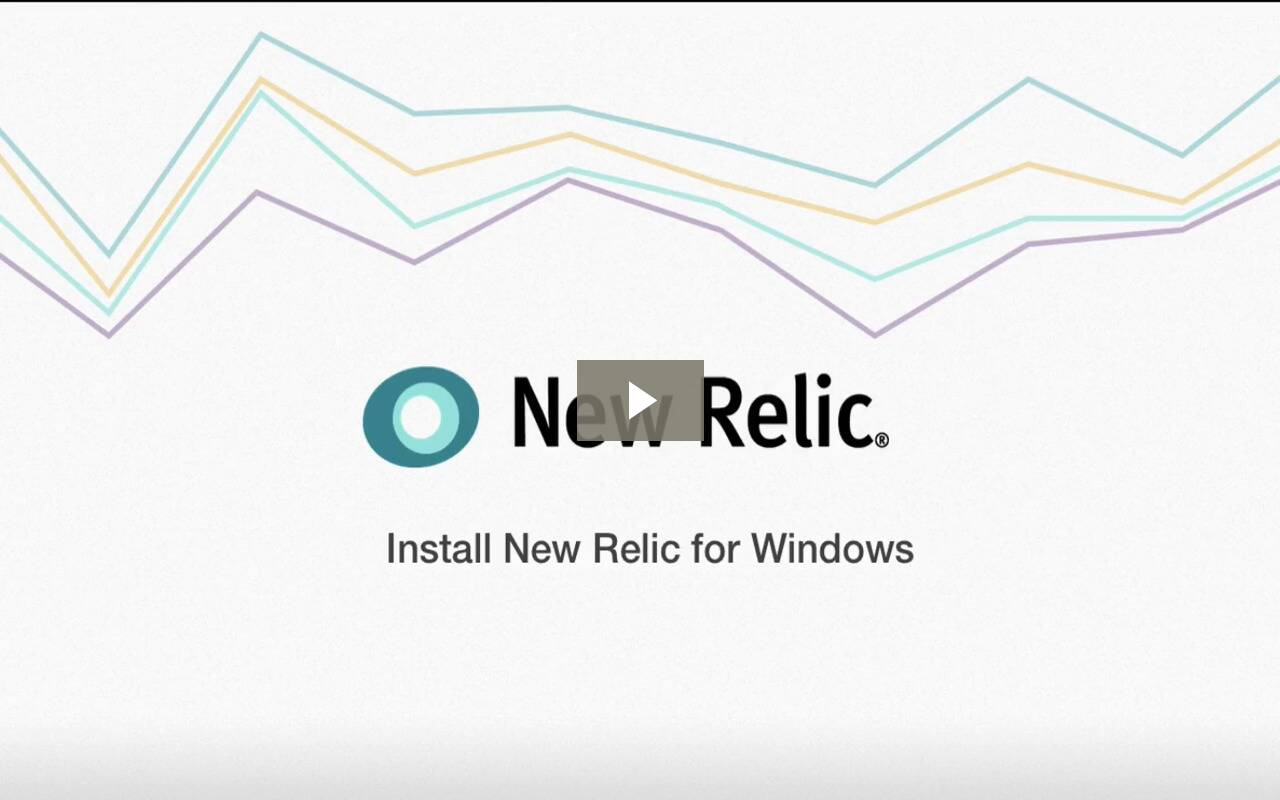 Installing New Relic for Windows Servers