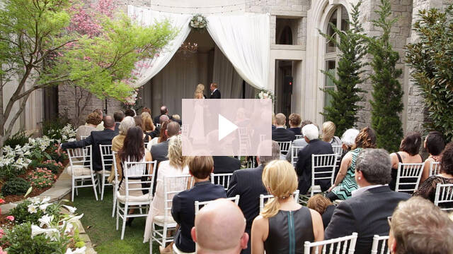 Courtyard From The Ceremony To Reception Went Like A Breeze In More Ways Than One With Oklahoma Winds That Blew For This Outdoor Wedding