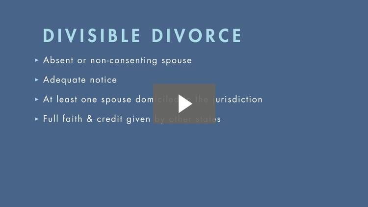 Limited and Divisible Divorce