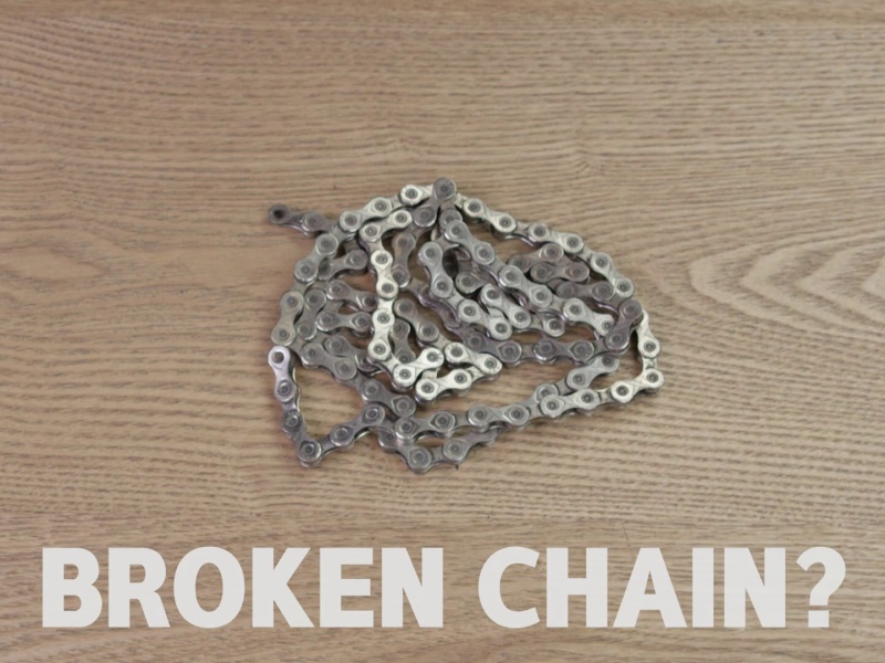 how to fix broken chain on bike